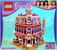 Lego Friends: Lovely Hotel, A Wonderful Cafe Corner (10182) Mod