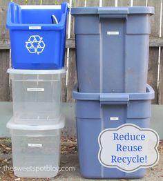 Reduce Reuse Recycle! - The Sweet Spot Bloghttp://thesweetspotblog.com/reduce-reuse-recycle/ #earthday #green #recycling