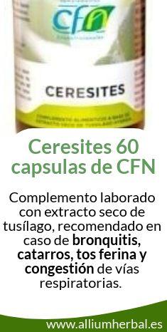 Ceresites 60 capsulas de CFN. Elaborado con extracto seco de tusílago hybrida.
