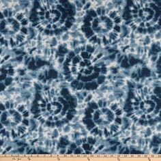 Premier Prints Spiral Cotton Duck Peacoat - Fabric.com Shibori Fabric, Premier Prints, Toss Pillows, Fabric Online, Slipcovers, Spiral, Sweet Home, Cotton, Decor