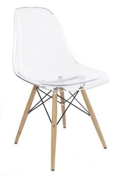 RETRO EAMES INSPIRED DSW 'EIFFEL' LOUNGE DINING CHAIR - TRANSPARENT / CLEAR:Amazon.co.uk:Kitchen & Home