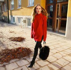 Red/black (by Carolina Engman) http://lookbook.nu/look/2733167-Red-black