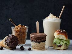 Coffee Drinks, Summer Style : Everyone has a favorite hot coffee or tea drink, but when the mercury rises, the flavors of those steamy beverages needn't be forgotten until fall. Take coffee and tea to the next level with these frosty, refreshing desserts.