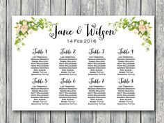 free arrow wedding seating chart template wedding 7 22 16