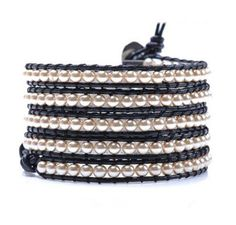 Enjoy this Multi Wrap pearl Leather Wristbands, Vintage Fashion, Vintage Style, Types Of Metal, Jewelry Bracelets, Pearls, Daily Deals, Leather Bracelets, Beads