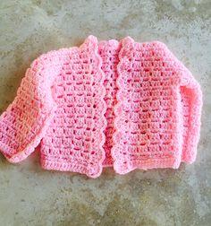 Cardigan in brick stitch