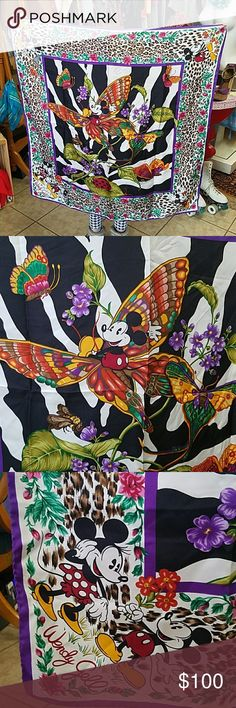Vintage Wendy Gell for Disney Mickey Mouse Scarf Wendy Gell for Walt Disney Mickey Mouse Silk Scarf  Made in Italy In excellent vintage condition see all photos they are part of the description. Vintage Accessories Scarves & Wraps