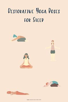 Restorative yoga helps the mind and body relax by using props to create positions of total comfort. Find out the top three yoga poses for sleep. Read Now. Yoga Poses For Sleep, Sleep Yoga, Bedtime Yoga, Restorative Yoga Poses, Yoga Illustration, Sleep Medicine, Natural Sleep Remedies, Yoga Routine, Good Sleep