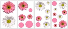 York Wallcoverings RoomMates Flower Power Peel & Stick Wall Decals Pink Home Decor Wallpaper Wall Decals Flower Power, Wall Stickers, Wall Decals, Renovation Hardware, Nursery Accessories, Gerber Daisies, Pink Home Decor, Girl Decor, Design 24