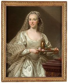 Alexander Roslin - Portrait of a Lady said to be Mlle Bourgevin de Linas as a Vestal Virgin 1756