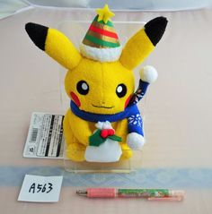 Pokemon Center Plush Doll Christmas 2013 Pikachu.with the bonus item From Japan #PokemonCenter