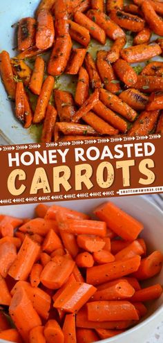 The ultimate vegetable side dish for dinner! These delectably simple Honey Roasted Carrots are roasted to perfection and glazed with butter, honey, and a little cayenne pepper. Pair this with baked ham, roasted turkey, grilled chicken, and braised pork!