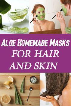 Aloe Homemade Masks for Hair and Skin