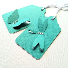 Butterfly or Dragonfly gift tags. Swing por MyPaperPlanet en Etsy