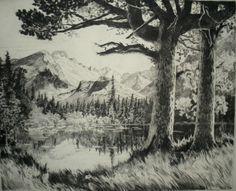 ca. 1946  Lyman Byxbe, etching