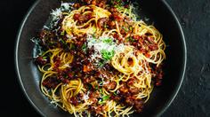 Mushroom and Lentil Bolognaise. Recipe: Katrina Woodman. Picture: Jeremy Simons
