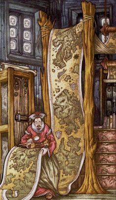 2 de bâtons - Universal Fantasy Tarot par Paolo Martinello