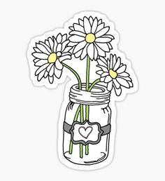 May 2020 - Mason Jar Flower stickers featuring millions of original designs created by independent artists. Kawaii Stickers, Cool Stickers, Printable Stickers, Laptop Stickers, Journal Stickers, Planner Stickers, Red Bubble Stickers, Homemade Stickers, Mason Jar Flowers