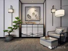新中式家具组合,轻装逆袭! Modern Chinese Interior, Contemporary Interior, Modern Interior Design, Asian Furniture, Chinese Furniture, Furniture Design, Oriental Design, Asian Decor, Living Room Interior