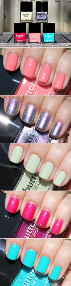 Love butter nail polishes, I have the light green on top and the dark pink on bottom plus many more!