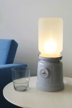 MECK Ceramic Table Lamp by Kranen/Gille made in The Netherlandsop CROWDYHOUSE