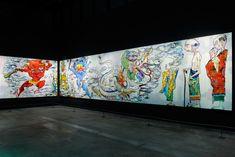 """""""arhat painting"""" by Takashi Murakami, Doha, Qatar."""