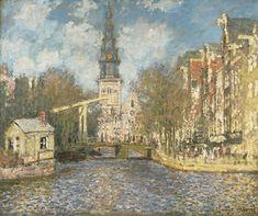 Claude Monet - La Zuiderkerk di Amsterdam: vista sul Groenburgwal, ca. 1874, olio su tela, 54.4 x 65.4 cm. Philadelphia Museum of Art, Acquistato con il W. P. Wilstach Fund, 1921