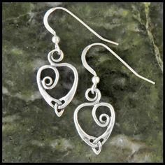 54d570a4e Celtic heart earrings in Sterling Silver are perfect for your Irish love!  Fairy Jewelry,