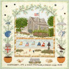 Susan Boardman, Diverse Subjects, Embroidery Narratives and Art Gallery, Nantucket, Massachusetts Nantucket Beach, Nantucket Wedding, Nantucket Style, Nantucket Island, Coastal Style, Seaside, Nantucket Massachusetts, Northern California, Cape Cod