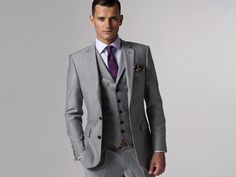 Custom Made Slim Fit Groom Tuxedos Light Grey Groom Tuxedos | Buy Wholesale On Line Direct from China