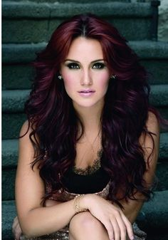Seriously, considering putting my hair this deep plum color. Just not sure how my skin tone would do with my hair that dark.