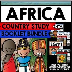This giant bundle of resources currently contains four different country study mini books on different African countries, including Egypt, South Africa, Tanzania, and Kenya. For detailed descriptions on what is included in each of the included mini books, click on the links below.