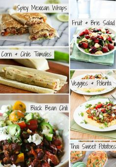 Vegetarian Meal Ideas: Fruit & Brie Salad, Corn Tamales and More!