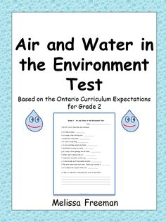 Air and water grade 2 science leau voyage dans une cycle oui c air and water in the environment test for grade 2 ccuart Images