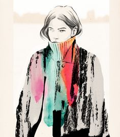 """Esra Røise is a Norwegian freelance illustrator based in Oslo. """"Inspired by seemingly small unimportant everyday situations, and snapshot photography with their impulsiveness, bad cropping… Art And Illustration, Fashion Illustration Sketches, Fashion Sketchbook, Fashion Sketches, Fashion Drawings, Portrait Illustration, Mode Collage, Snapshot Photography, Grid Design"""