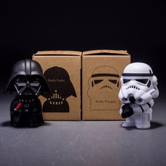 mylb 10cm 2pcs/lot Q Style Star War Darth Vader & STORM TROOPER Action Figure Model Toy for gift