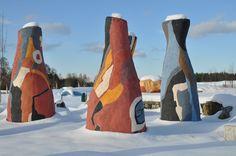 "Winterlandschaft: ""Der Skulpturen-Erlebnis-Park"" des Kunstmuseum Waldviertel in Schrems Painting, Art Museum, Winter Landscape, Woodland Forest, Sculptures, Painting Art, Paintings, Paint, Draw"