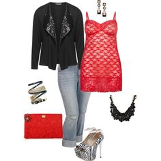 A fashion look from February 2015 featuring mini dress, Samoon and plus size pants. Browse and shop related looks.