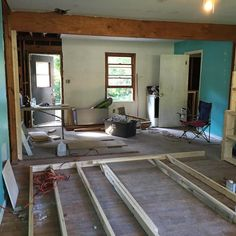 #MakingMyHome #RemovingWalls #WatchOutTrump #OpenConcept Clark County really makes you overdo it here in #Athens. 14 foot opening and had to get two 16 ft 12 inch LVL beams. #NowMyBackHurts. Thanks for the father-in-law's help!!!!!