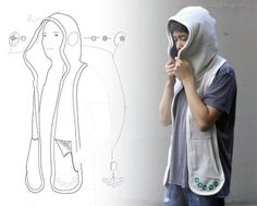 Leo Chao created a medical assistive garment for autistic children, Beagle, a scarf/hoodie designed for children with autism. The product is created to sooth, relax, & comfort autistic individuals during high-stress periods...