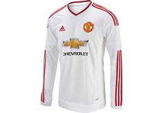 adidas Manchester United L/S Away Jersey 2015-2016 | SoccerMaster.com