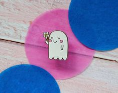 Etsy :: Your place to buy and sell all things handmade Kawaii Halloween, Cute Halloween, Kawaii Accessories, No Plastic, Cool Pins, Creepy Cute, Pin And Patches, Pin Badges, Cool Cards