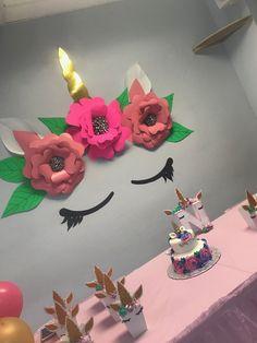 #Unicornio #BirthDay #Party #Flawer #Paper #beautyfull