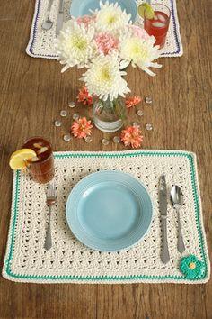 Simply Blooming Placemats Crochet Pattern - I Like Crochet | Beautiful…