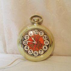 Vintage Bar Clock Pocket Watch Clock Spartus by LuckyPennyTrading