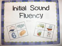 This Initial Sound Fluency Packet  from Donna Glynn- you can get it on TPT!  I put each colored page under my document camera and we do a page each day!  We say the names of the pictures, the first sound/letter for each picture, the last sound for each picture, and then we stretch the word (like stretchy word snake) and say the middle sound!  It is working soooo great!