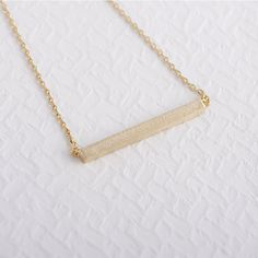(10pcs/lot)  Pendant Necklace Square bar modern everyday gift wedding For Girl Women Wholesale