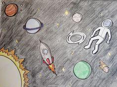 Weltraum / Weltall Zeichnung