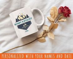 Custom Mug, 11oz White Coffee Mug, Personalized Mug With Your Name Text & Date, Ceramic Mugs For Dad Mom Family members and Kitchen Kitchen Prices, Kitchen Items, Volume And Capacity, White Coffee Mugs, Gifts For Boss, Personalized Mugs, Bridal Shower Gifts, Mug Designs, Custom Mugs