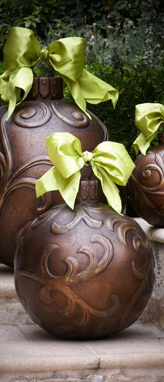 Outside Christmas ornaments - bronze